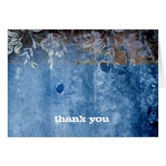 311-Lusciously Rustic  Blue Thank You Card