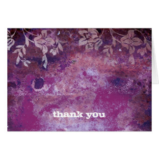 311-Lusciously Rustic Plum Thank You Greeting Cards