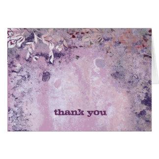 311-Lusciously Rustic Plum Thank You V2 Greeting Card