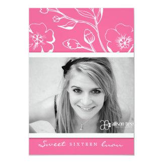 """311-Lush dulce rosado dieciséis Invitación 5"""" X 7"""""""
