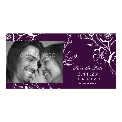 311-Lush Eggplant Purple Save the Date Card