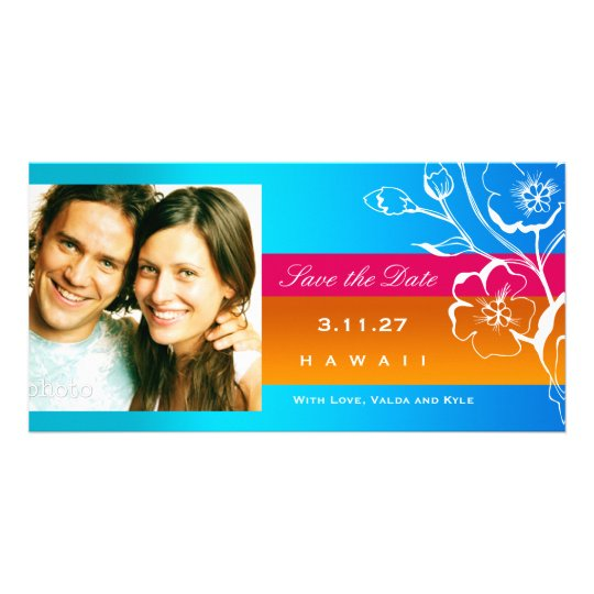 311-Lush Tropical Sunset Save the Date Card