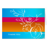311-Lush Tropical Sunset Thank you Greeting Cards