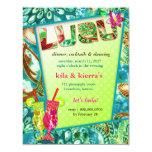 """311 Lushious Luau Invitation 4.25"""" X 5.5"""" Invitation Card"""