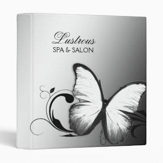 311 Lustrous Butterfly Black White Vinyl Binders