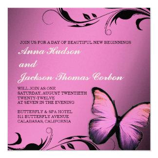 311 Lustrous Butterfly Golden Metallic Pink Pout Card