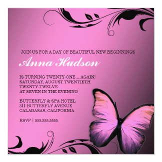 311 Lustrous Butterfly Pink Pout Card