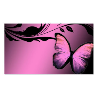 311 Lustrous Butterfly Pink Pout Name Card Business Card Templates