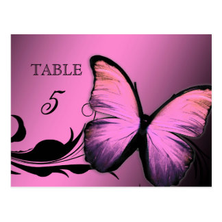 311 Lustrous Butterfly Pink Pout Table Card