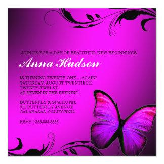 311 Lustrous Butterfly Pink Purple Card