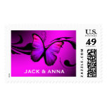311 Lustrous Butterfly Pink Purple Stamp