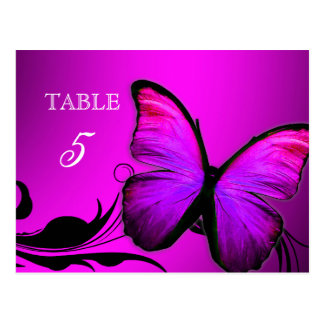 311 Lustrous Butterfly Pink Purple Table Card