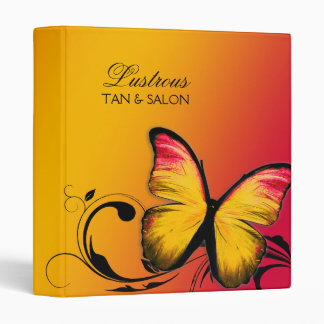 311 Lustrous Butterfly Sunset 3 Ring Binder