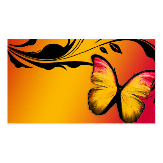 311 Lustrous Butterfly Sunset Name Card Business Card