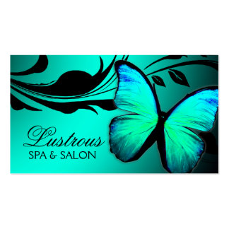 311 Lustrous Butterfly Turquoise Blue Business Cards