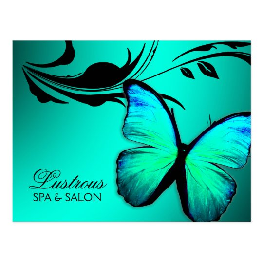 311 Lustrous Butterfly Turquoise Blue Postcard