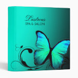 311 Lustrous Butterfly Turquoise Blue Vinyl Binder