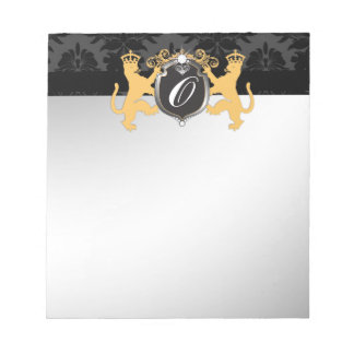 311 Luxe Lion Heraldry Yellow Notepad