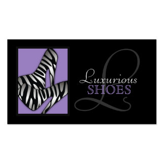 311-Luxurious Shoes Purple Double-Sided Standard Business Cards (Pack Of 100)