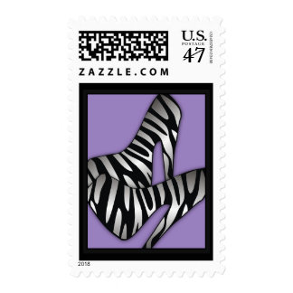 311-Luxurious Zebra Shoes Postage Stamp