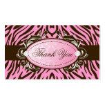 311-Luxuriously Brown rosado que la cebra le agrad Tarjetas De Visita
