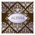 311-Luxuriously dulce 16 del damasco de la lila N  Invitaciones Personalizada
