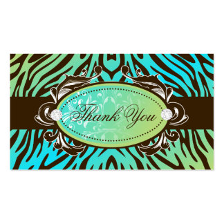 311-Luxuriously Oceanic Zebra Thank You Tags Double-Sided Standard Business Cards (Pack Of 100)