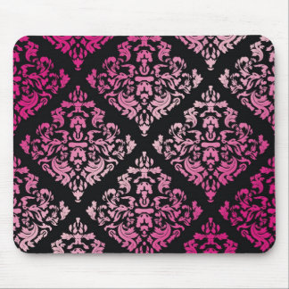 311-Luxuriously Pink Damask Mouse Pad