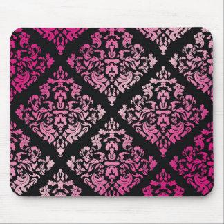 311-Luxuriously Pink Damask Mouse Pad