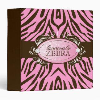 311-Luxuriously Pink N Brown Zebra Binder
