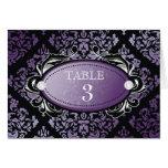 311 Luxuriously Purple Damask Table Card