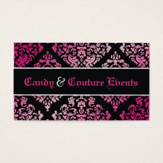 311 Luxuriously Vincelette Damask Pink Liquorice Business Card