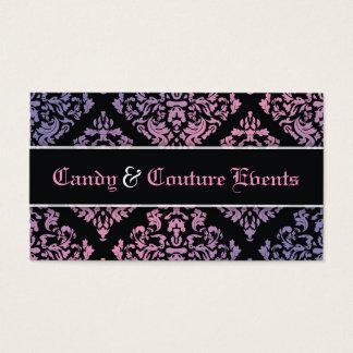 311 Luxuriously Vincelette Damask Pink Purple Business Card