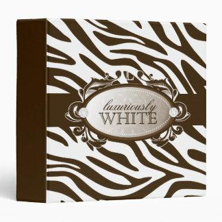 311-Luxuriously White Chocolate Zebra Binder