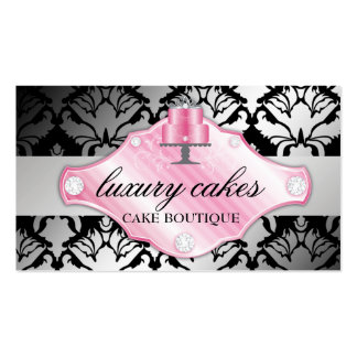 311 Luxury Cakes Damask Shimmer Business Cards