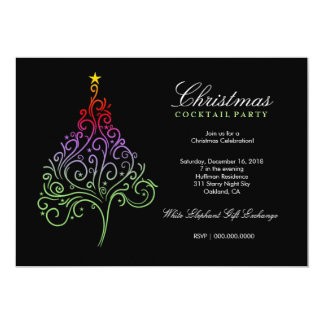 311-Magical Christmas Tree Invite | Colorful