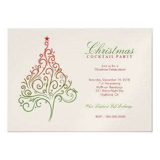 311-Magical Christmas Tree Invite | Metallic