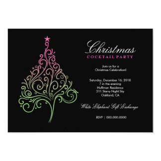 311-Magical Christmas Tree Invite | Pink