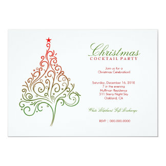 311-Magical Christmas Tree Invite | Red Green