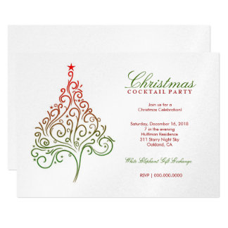 311-Magical Christmas Tree Invite | SilverMetallic