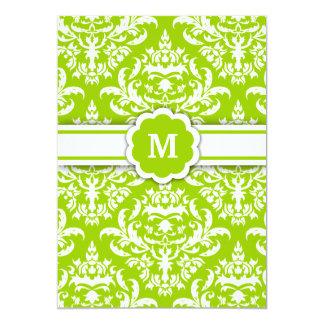 311-Marissa Monogram Damask Lime Card