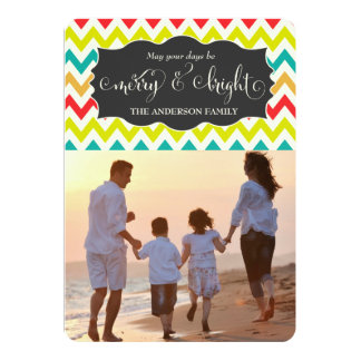 311 Merry & Bright Chevron Holiday Photo Card