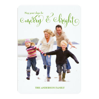311 Merry & Bright Lime Holiday Photo Card