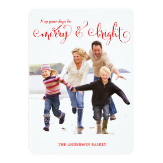 311 Merry & Bright Red Holiday Photo Card