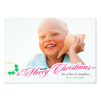 311-Merry Christmas with Holly Card