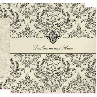 311-Metallic Emmy Damask Invitation
