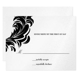 311-Metallic | Lavishly Lainey Black RSVP Card