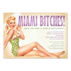 311 Miami Retro Pinup Girl Card