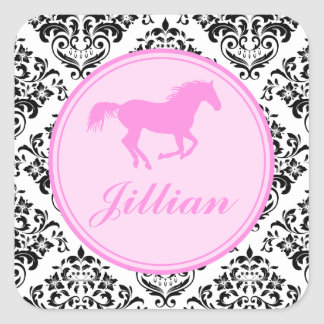 311 Miss Priss Horse Square Sticker