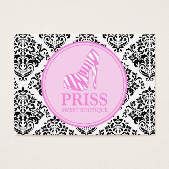 311 Miss Priss Zebra Heel Business Card